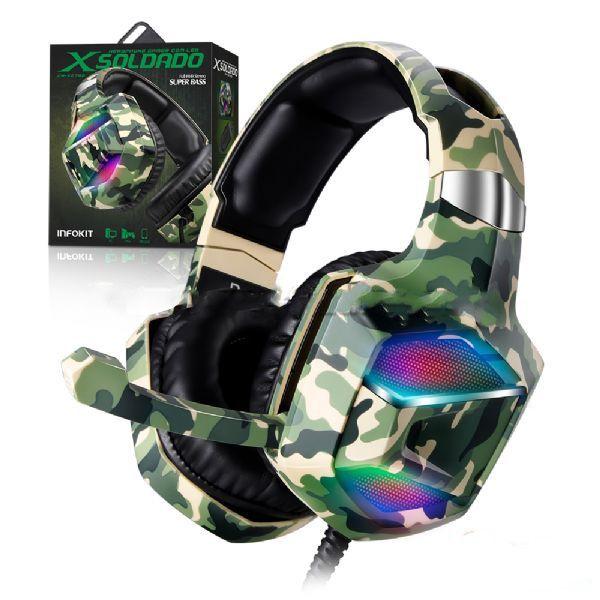 HEADSET INFOKIT GAMER XSOLDADO GH-X2700 7.1 RGB