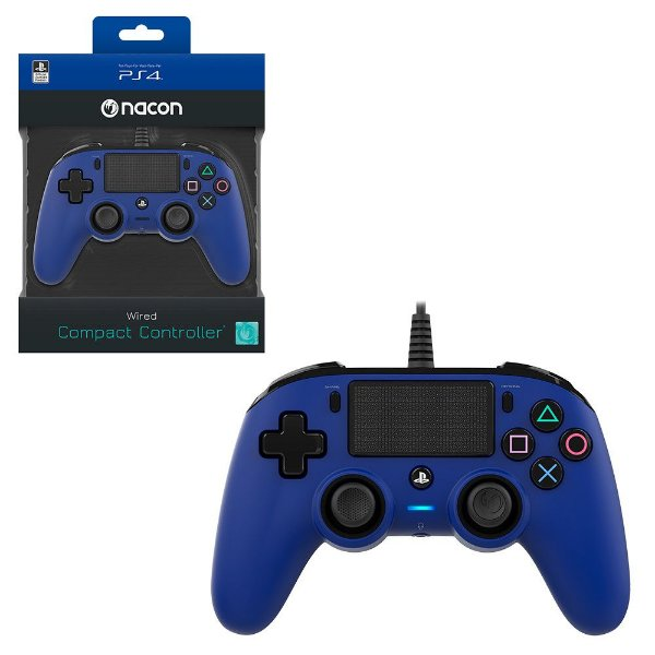 CONTROLE NACON WIRED COMPACT CONTROLLER PS4 BLUE