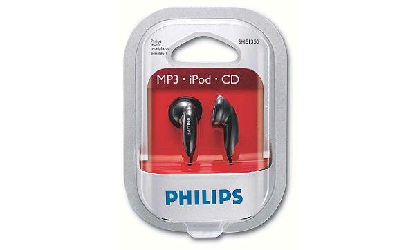 PHILIPS - FONE DE OUVIDO - SHE 1350WT/PT