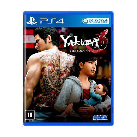YAKUZA 6: THE SONG OF LIFE - BLU-RAY - PS4 USADO