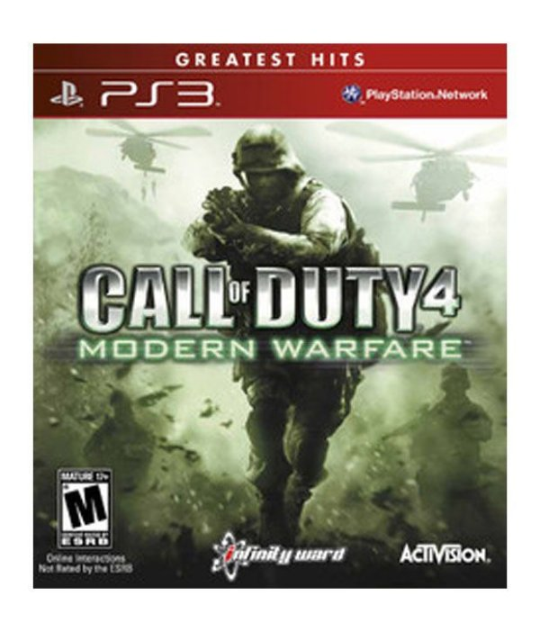CALL OF DUTY 4 MODERN WARFARE PS3 USADO