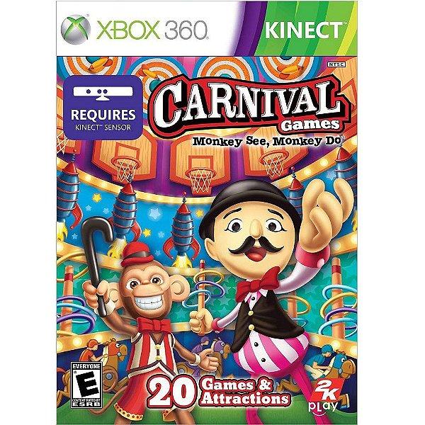 CARNIVAL GAMES XBOX 360 USADO