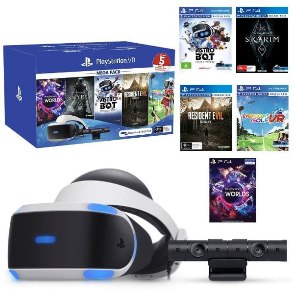 PLAYSTATION VR BUNDLE COM 5 JOGOS