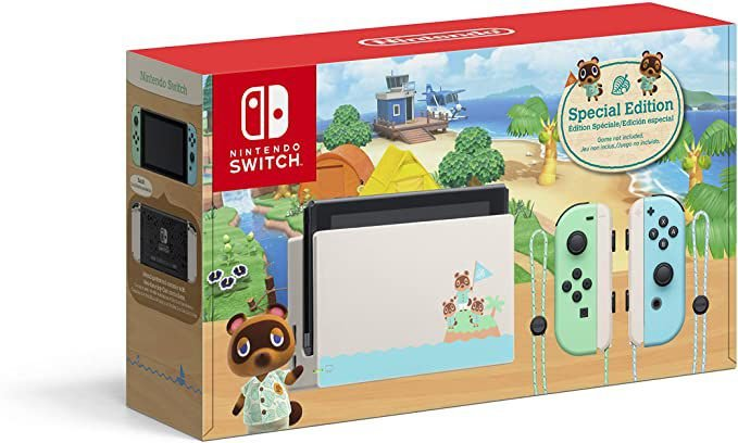 NINTENDO SWITCH ANIMAL CROSSING SPECIAL EDITION (NEW MODEL)