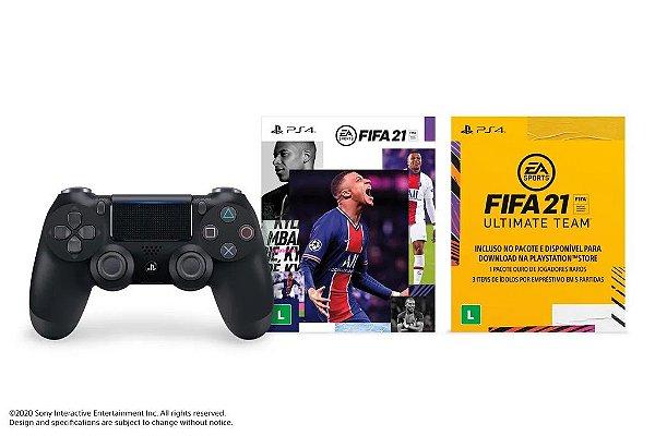 CONTROLE DUALSHOCK 4 COM FIFA 21 (VERSÃO DIGITAL)