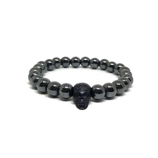 Pedra Hematita Caveira Black