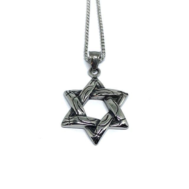 Colar Estrela de Davi Realismo [aço Premium]