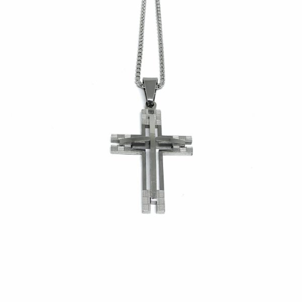 Colar Crucifixo Future Realismo [aço Premium]