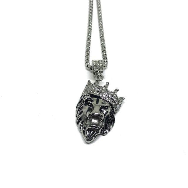 Colar Lion King Silver [aço Premium]