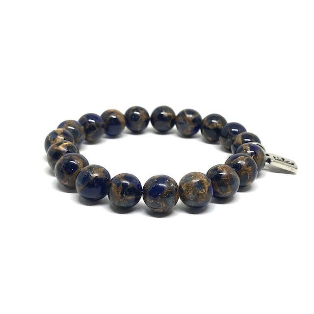 Pulseira Pedra Jaspe Imperial Azul [nobre]
