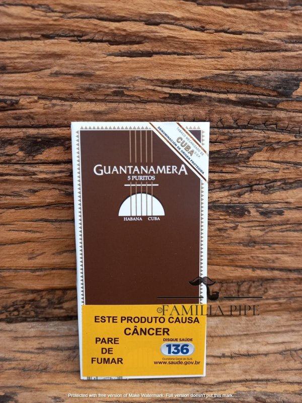 Charuto Guantanamera Puritos PTC5 C/ 10X05U
