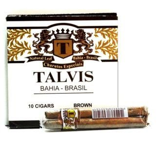 CIGARRILHA TALVIS 10X10 – CHOCOLATE