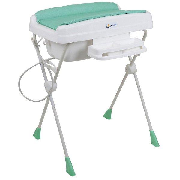 Banheira de Bebe Burigotto Millenia+ Mescla Aqua Verde