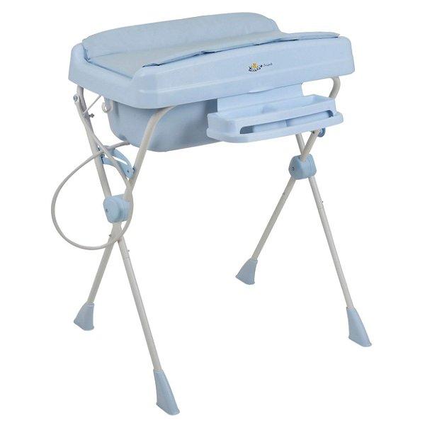 Banheira de Bebe Portatil Burigotto Millenia+ Baby Blue Azul