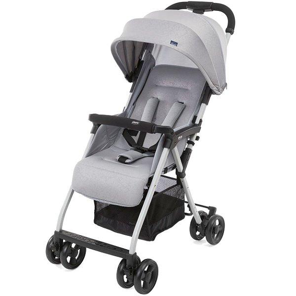 Carrinho de Bebe Compacto Chicco Ohlala 3 Light Grey Cinza