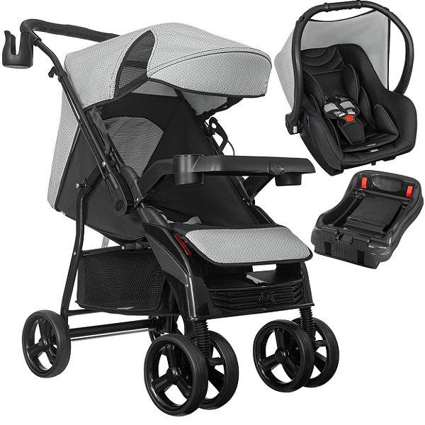 Carrinho de Bebe Tutti Baby Nivo com Bebe Conforto Base Preto