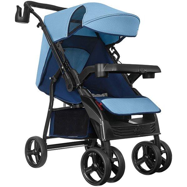 Carrinho de Bebe Passeio Reversivel Tutti Baby Nivo Azul