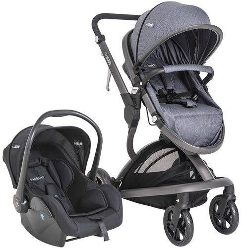 Carrinho De Bebe Bebe Conforto Kiddo Quantum Melange Azul