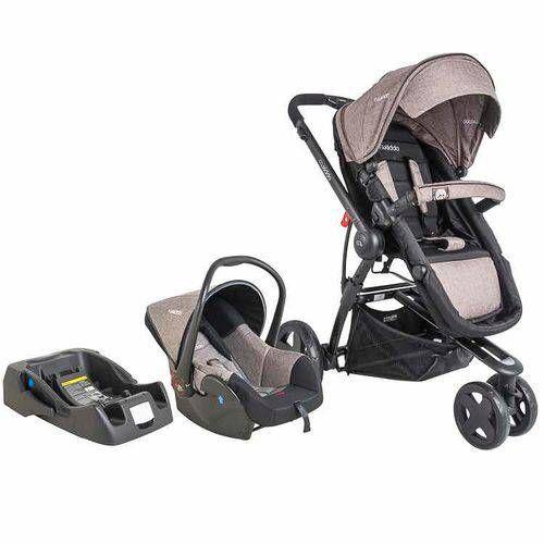 Carrinho de Bebe Bebe Conforto e Base Kiddo Compass III Melange Capuccino
