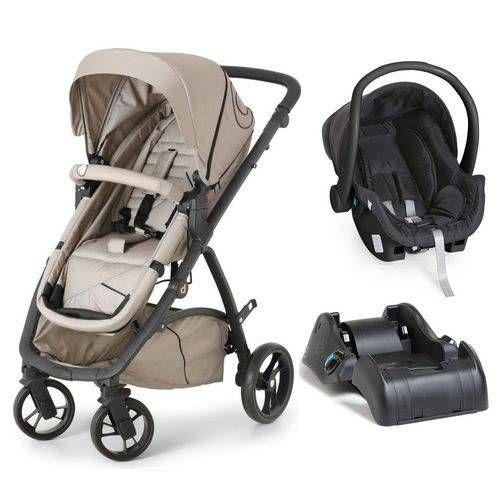 Carrinho de Bebe Bebe Conforto e Base Dzieco Maly Beige Black