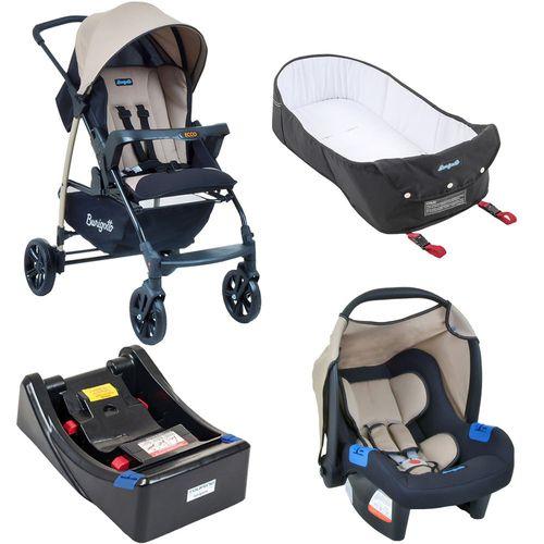 Carrinho de Bebe Bebe Conforto Base e Ninho Burigotto Ecco Bege