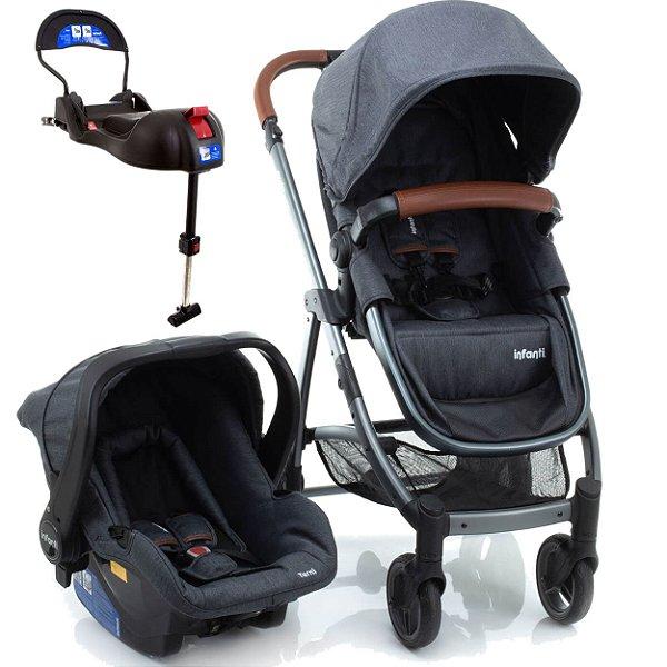 Carrinho de Bebe Bebe Conforto e Base Isofix Infanti Epic Lite Grey Vintage