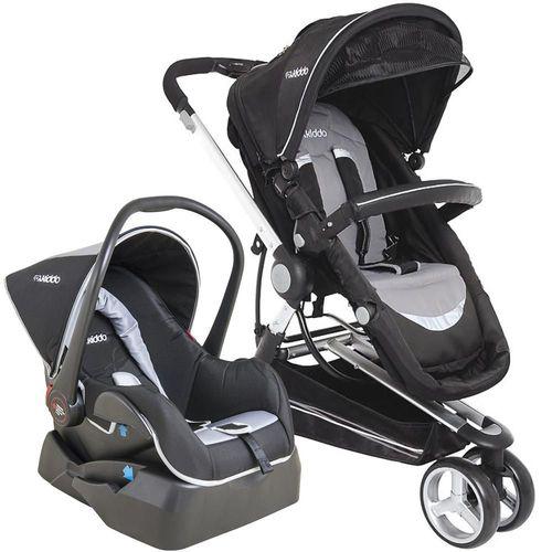 Carrinho de Bebe Bebe Conforto e Base Kiddo Compass II Preto/Cinza