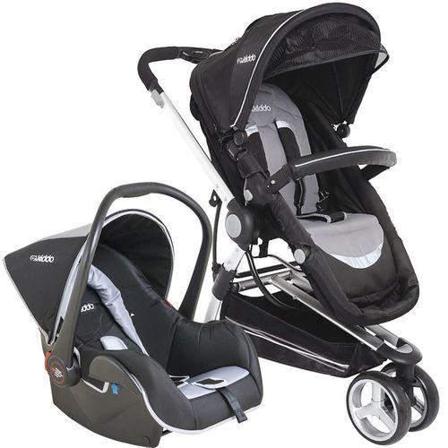 Carrinho de Bebe Bebe Conforto Kiddo Compass II Preto/Cinza