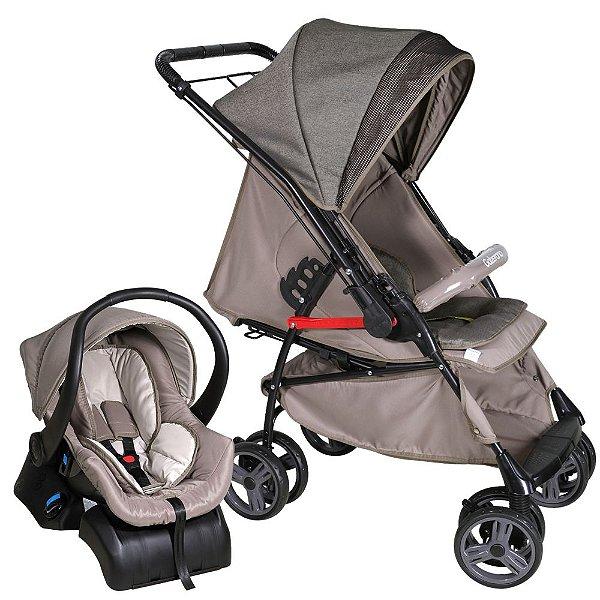 Carrinho de Bebe Bebe Conforto e Base Galzerano Maranello Caramelo 1381CAR