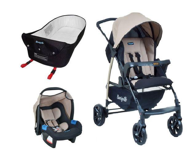 Carrinho de Bebe Bebe Conforto e Ninho Burigotto Ecco Bege