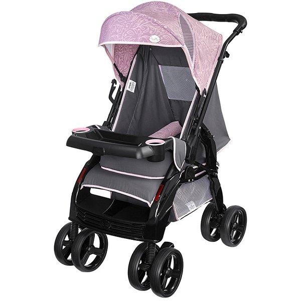 Carrinho de Bebe de Passeio Tutti Baby Upper Rosa Reversível