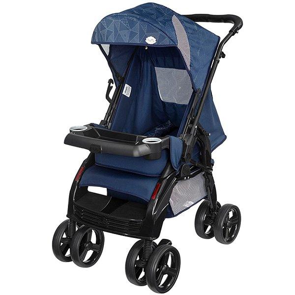 Carrinho de Bebe de Passeio Tutti Baby Upper Azul Reversível