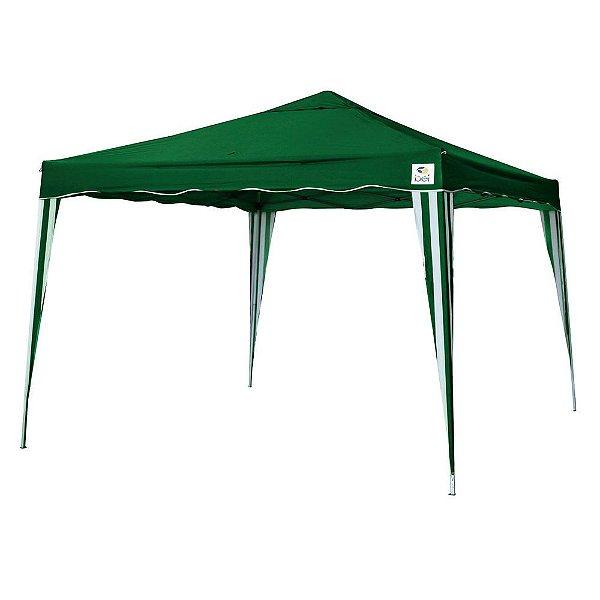 Tenda 3x3m Dobrável Sanfona Poliéster Gazebo Alumínio Verde Belfix