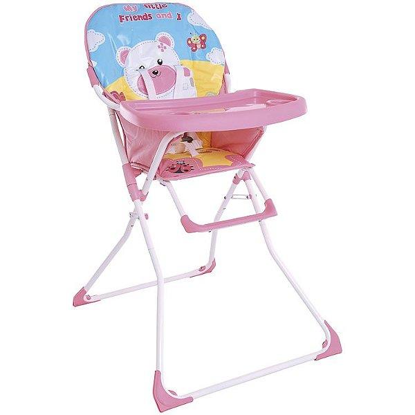 Cadeira de Refeição Kiddo Recreio Rosa