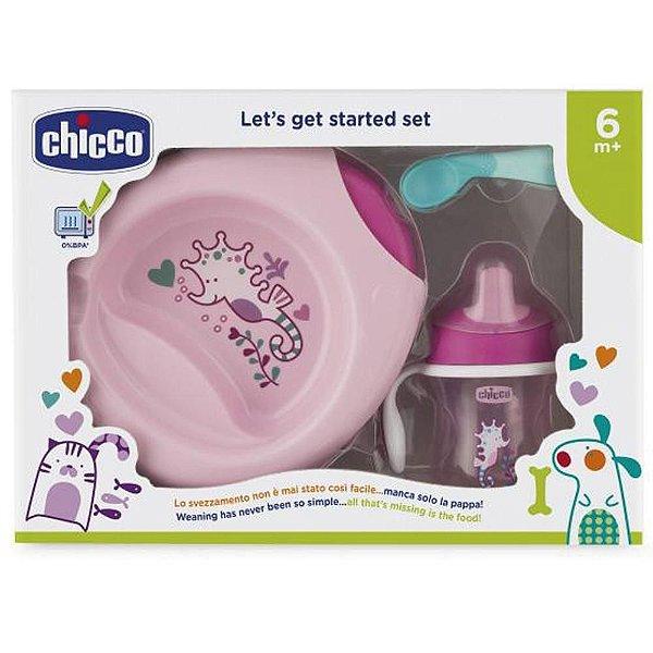 Kit de Alimentação Chicco 6M+ Rosa Chicco