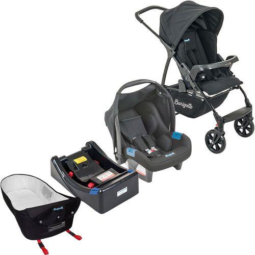 Carrinho de Bebe Bebe Conforto Base e Ninho Burigotto Ecco Preto