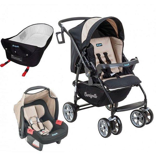 Carrinho de Bebe Bebe Conforto e Ninho Burigotto AT6 K Bege