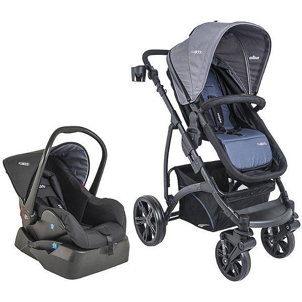 Carrinho de Bebe Bebe Conforto e Base Kiddo Explore Azul