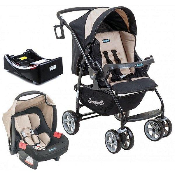 Carrinho de Bebe Bebe Conforto e Base Burigotto AT6 K Bege