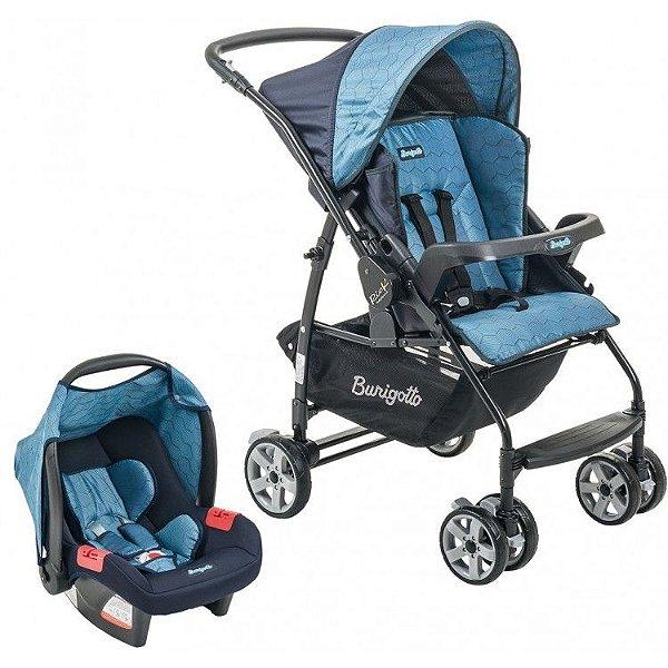 Carrinho de Bebe Bebe Conforto Burigotto Rio K Geo Azul