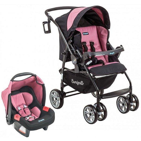 Carrinho de Bebe Bebe Conforto Burigotto AT6 K Preto/Rosa