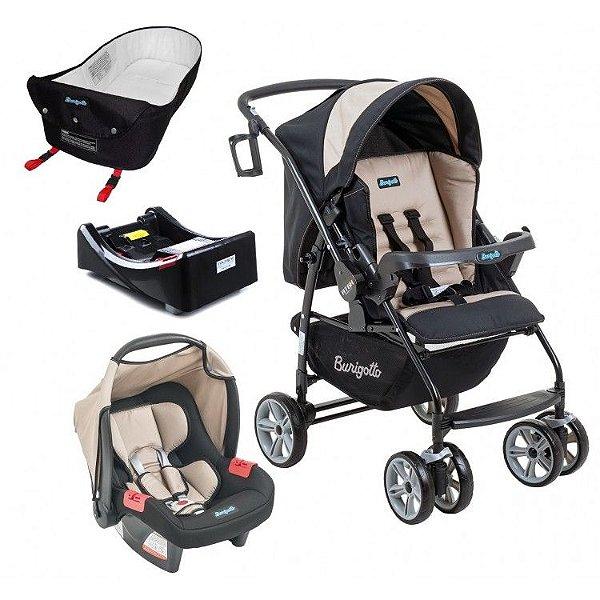 Carrinho de Bebe Bebe Conforto Base e Ninho Burigotto AT6 K Bege