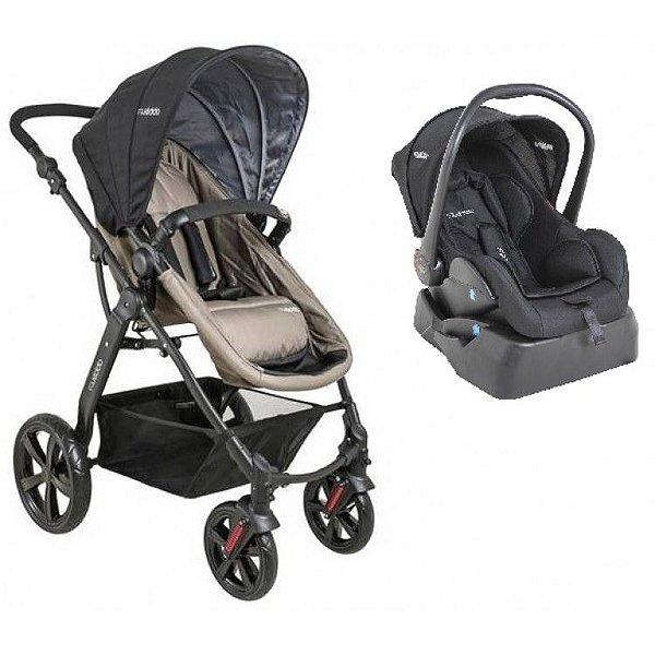 Carrinho de Bebe Bebe Conforto e Base Kiddo Galaxy Preto/Capuccino