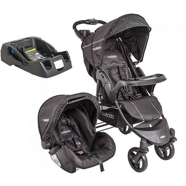 Carrinho de Bebe Bebe Conforto e Base Kiddo Omega Preto