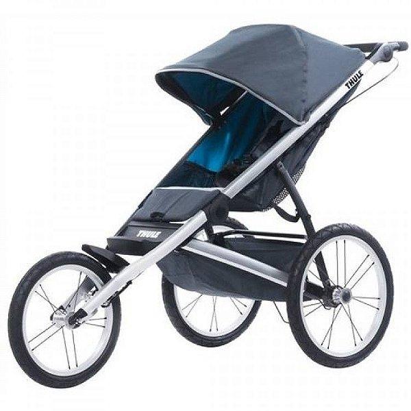 Carrinho de Bebe Thule Glide Preto/Azul 3 Rodas