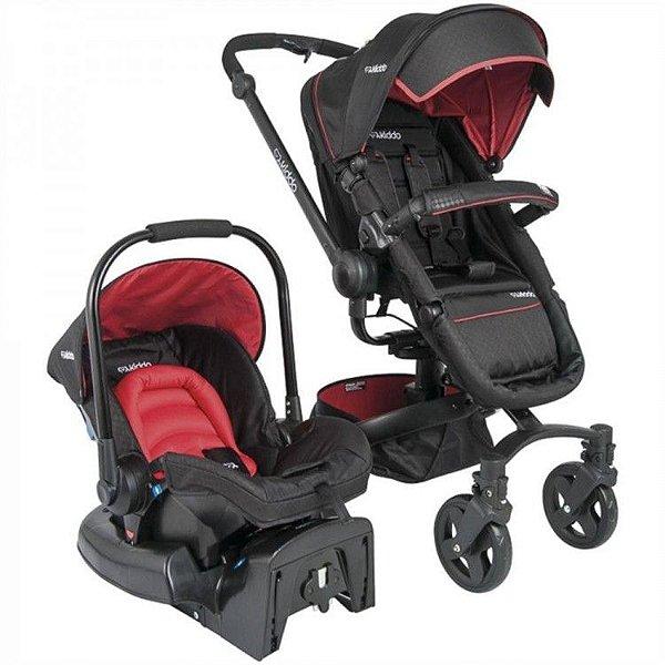 Carrinho de Bebe Bebe Conforto Kiddo Spin 360º Vermelho