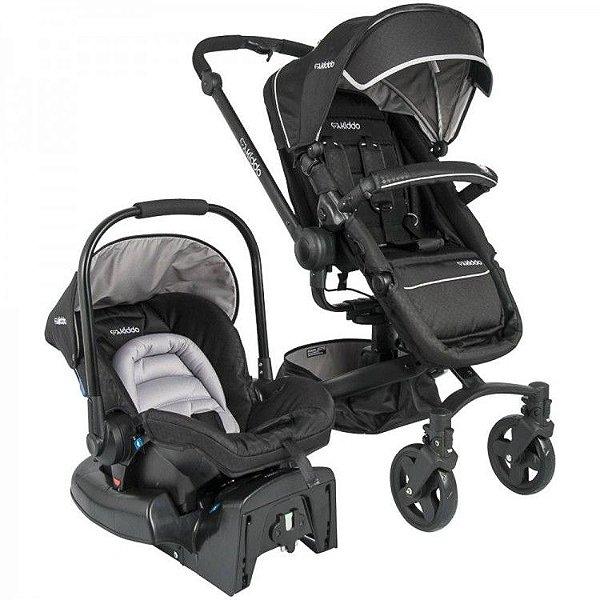 Carrinho de Bebe Bebe Conforto Kiddo Spin 360º Preto