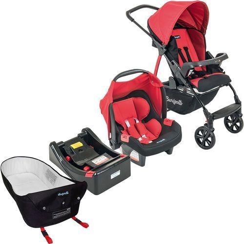Carrinho de Bebe Bebe Conforto Base e Ninho Burigotto Ecco Red