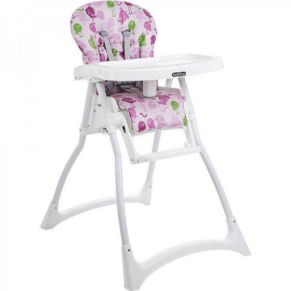 Cadeira de Refeição Burigotto Merenda Passarinho Rosa