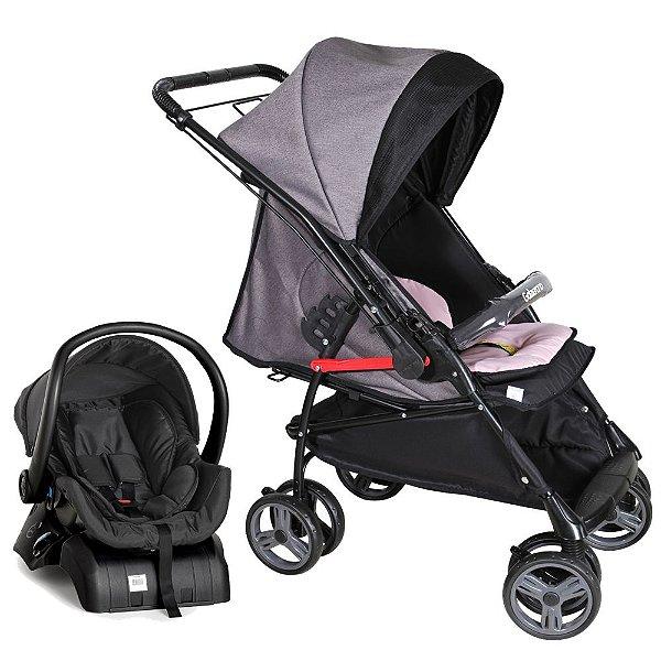 Carrinho de Bebe Bebe Conforto e Base Galzerano Maranello Rosa